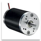 Brush motor for passenger gate